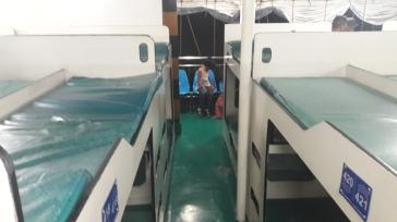camas del ferry a Bohol