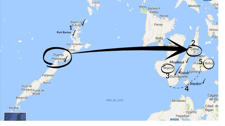 itinerario-filipinas