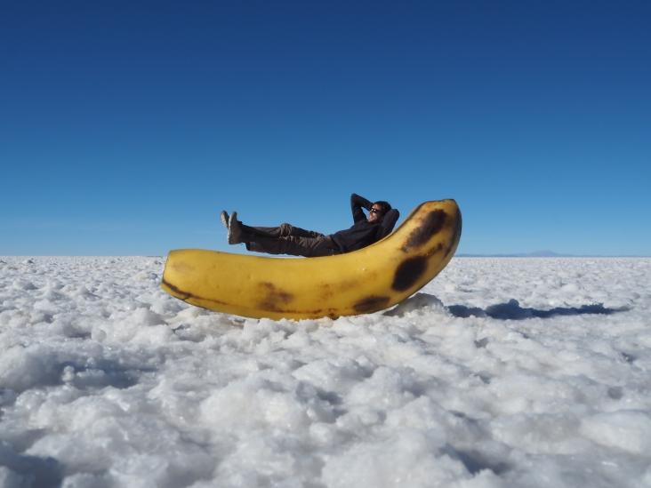 mejor que una hamaca, un plátano!