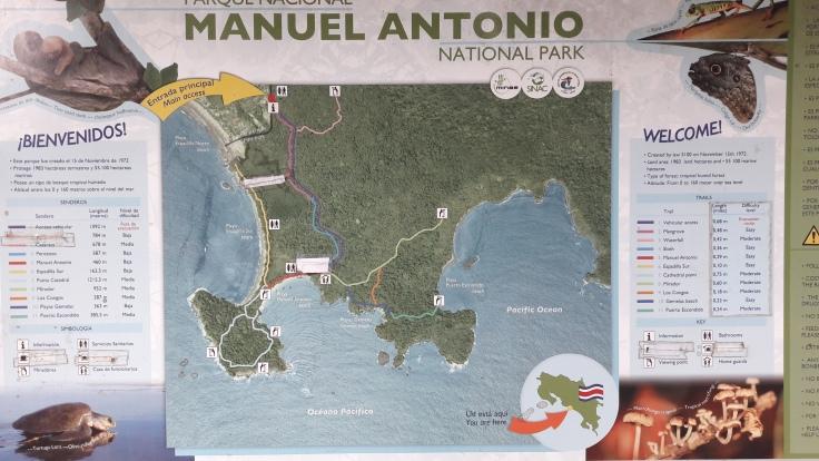 mapa manuel antonio